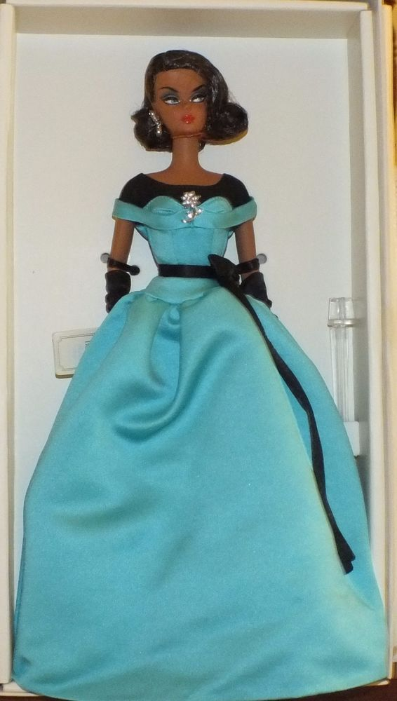 SILKSTONE FASHION MODEL BALL GOWN BARBIE AA NRFB~TEAL GOWN #Mattel #DollswithClothingAccessories