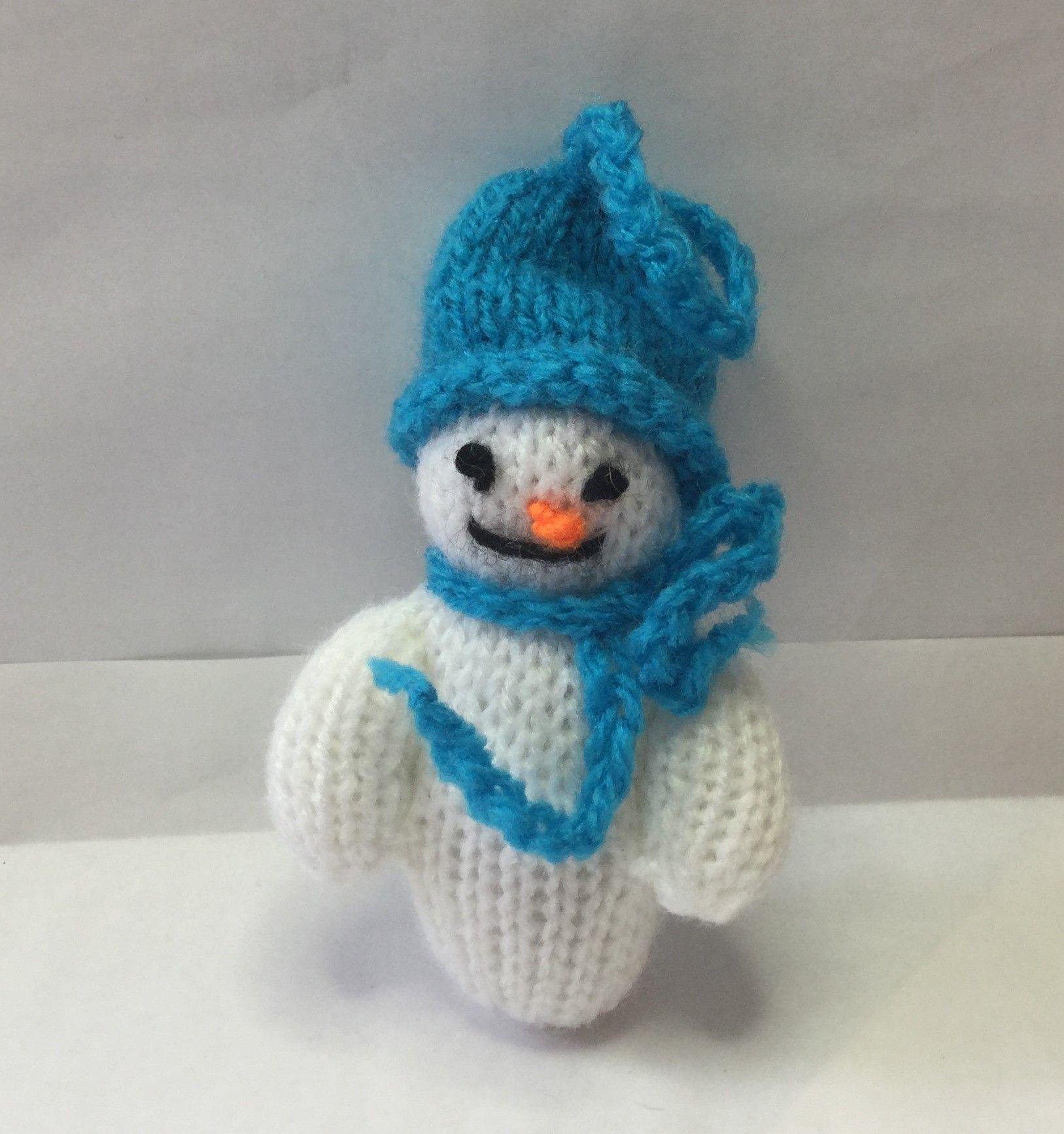 KN041...christmas tree deco..bright blue hat snowman...10cm | Craft ...