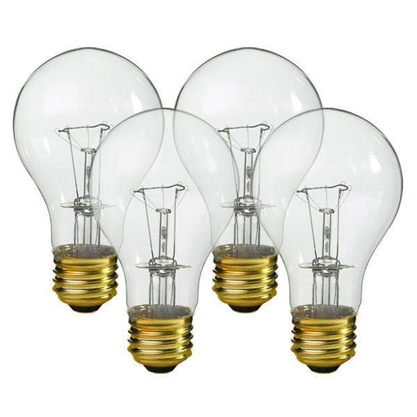 Halco Or Westinghouse 6327 100 Watt A19 Clear 5 000 Life Hours 950 Lumens 130 Volt 4 Pack Main Bulbs Ki Light Bulb Bulb Incandescent Light Bulb