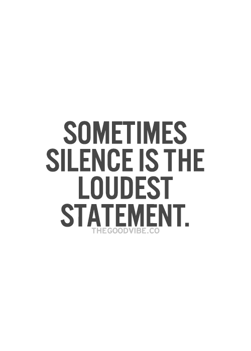 Silence #INTJ