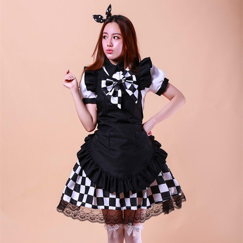 Maid costume cosplay anime haiyore nyarukosan black