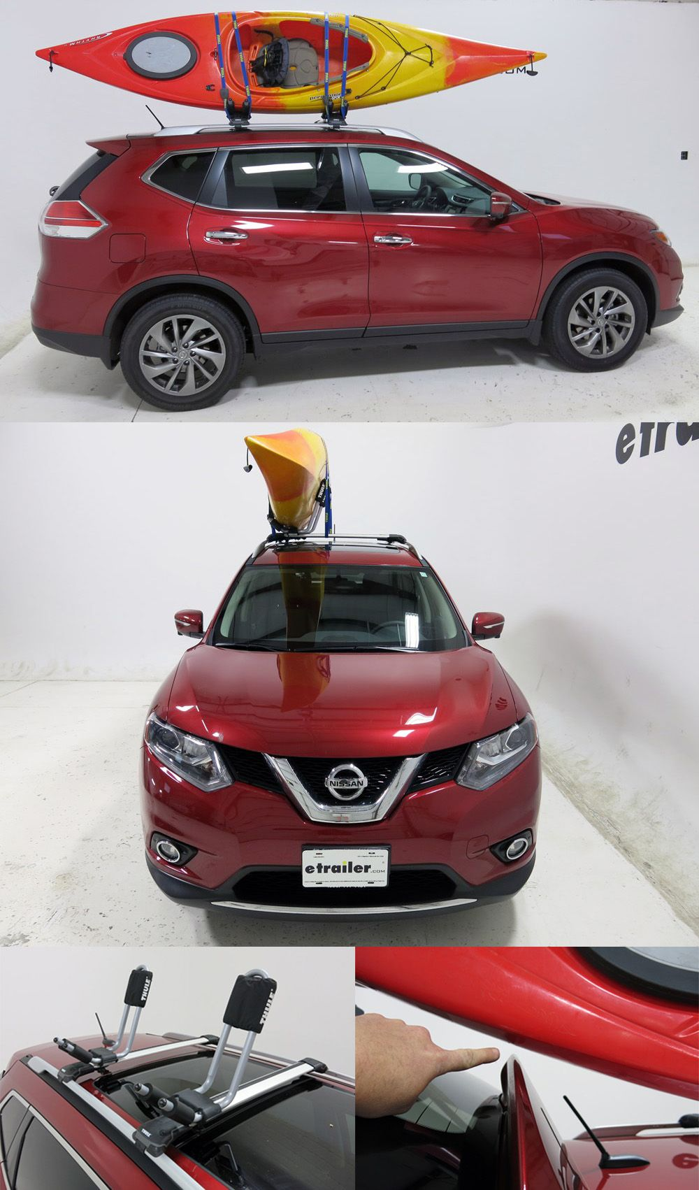 Nissan Rogue Thule Hull A Port Kayak Carrier W Tie Downs