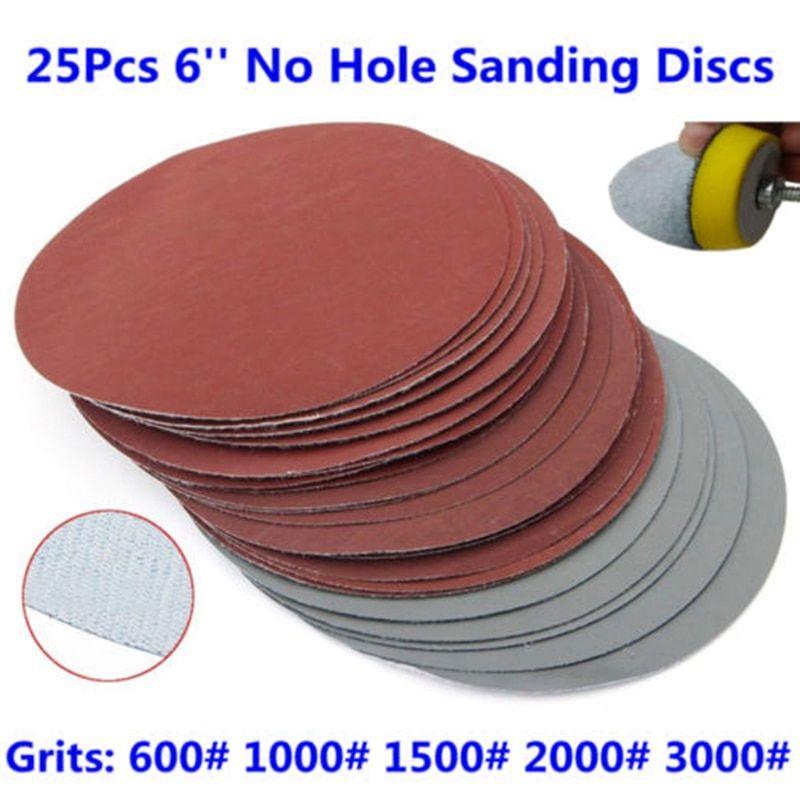 25pcs Sanding Discs Sandpapers 6 Grit 600 1000 1500 2000 3000 Sanding Discs Sandpaper Hook Loop Pack 25pcs Sanding Discs Sandpape Sanding Grit Sandpaper