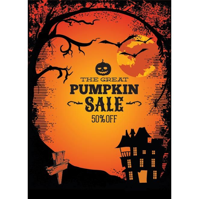 Vector Happy Halloween retro style poster set template | Halloween ...