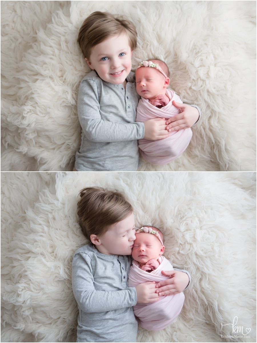 Big brother and newborn baby sister sibling poses newborn sibling newborn baby photos