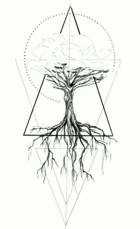 Geometric Tattoo Tree Geometric Geometry Tattoo Geometric Tattoo Tree Geometric Trees