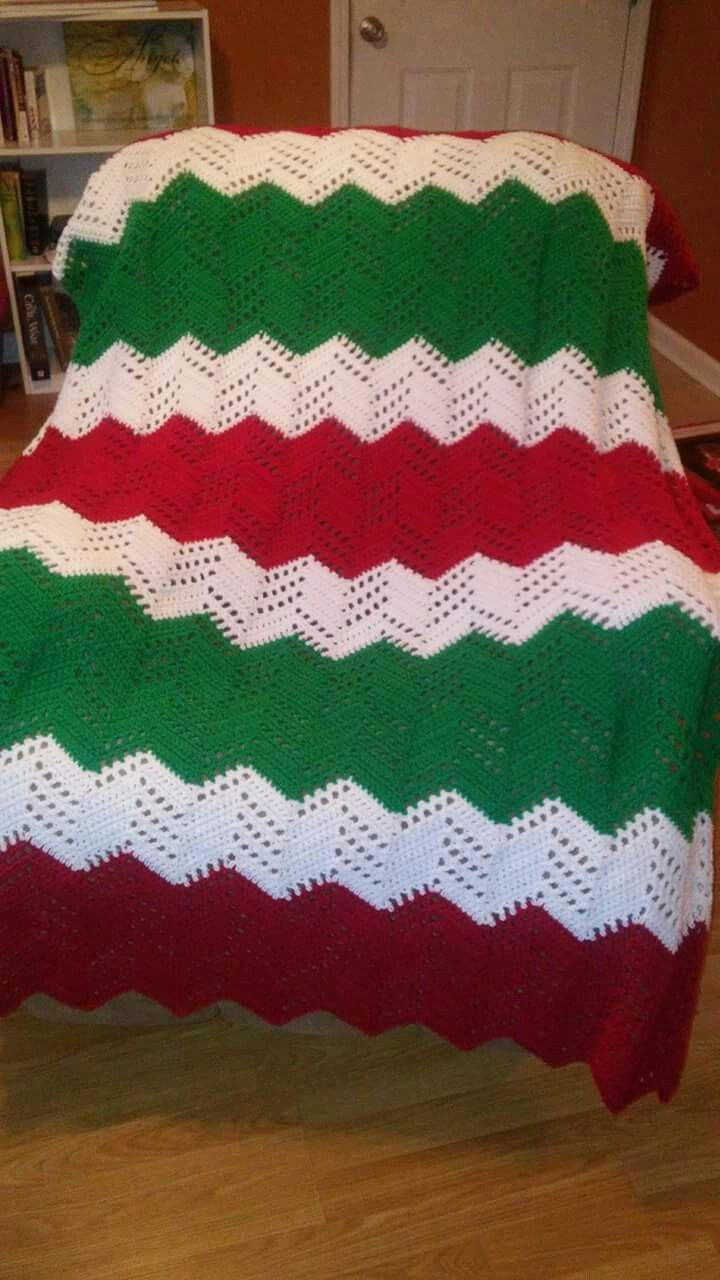 Custom. Christmas Afghan. Crochet. Braylee\'s Sew Sweet Boutique ...