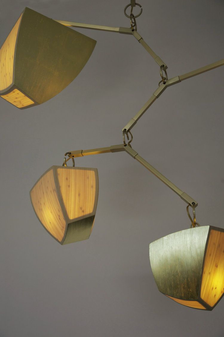 Ivy 4 vairations a mobile chandelier in bamboo and brass ivy 4 vairations a mobile chandelier in bamboo and brass aloadofball Images