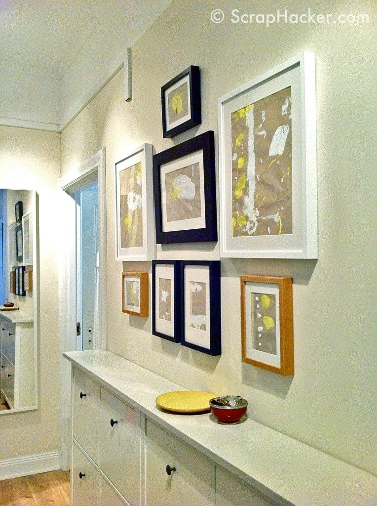 Ikea hemnes shoe cabinet doubled for a long narrow hallway for Narrow cabinet ideas