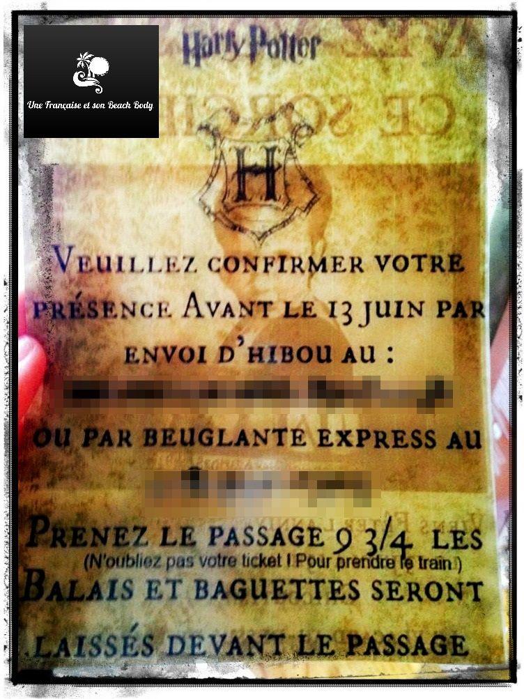 Carte D Invitation Anniversaire Harry Potter Francais En