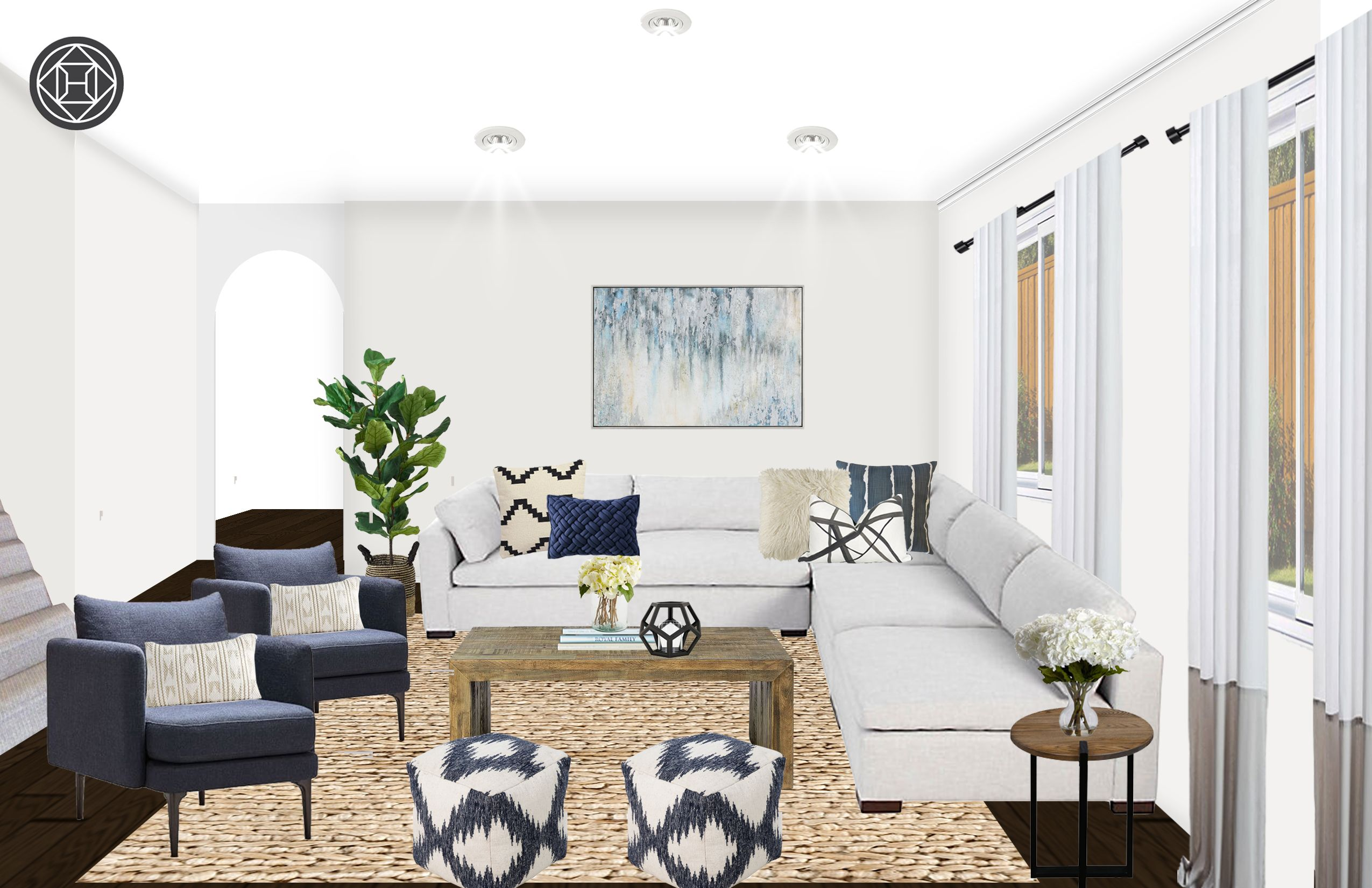 contemporary, modern, classic, coastal, glam, midcentury modern living room designhavenly