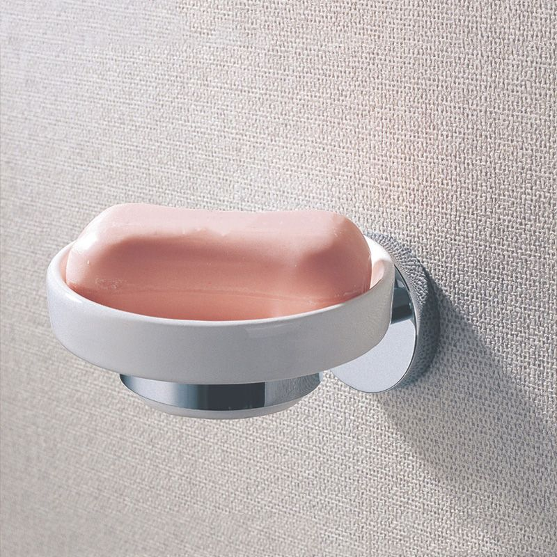 Br Soap Dishes Wall Mounted Polished Chrome Antique Shower Shampoo Wash Hand Basin Ceramic Holder Bathroom Accessories