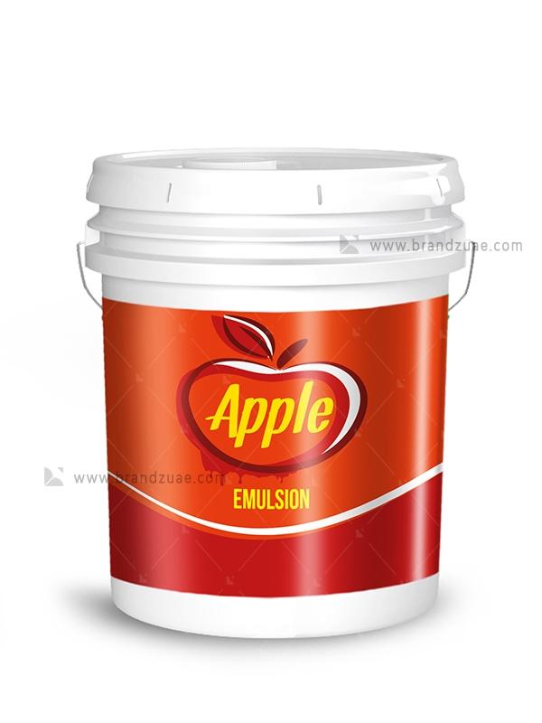 Apple Emulsion Paint Bucket Label Brandz Uae Paint Buckets Branding Design Packaging Bucket