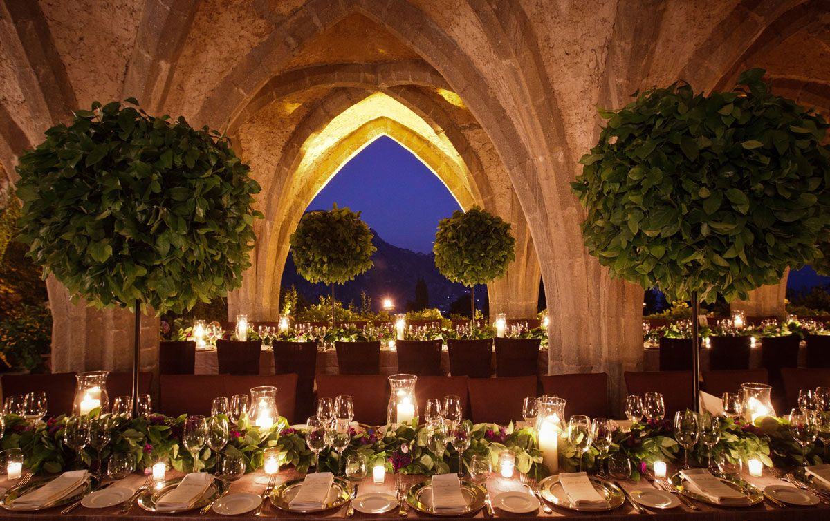 Garden wedding decorations night  if only we had the architecture this would be so simple  garden