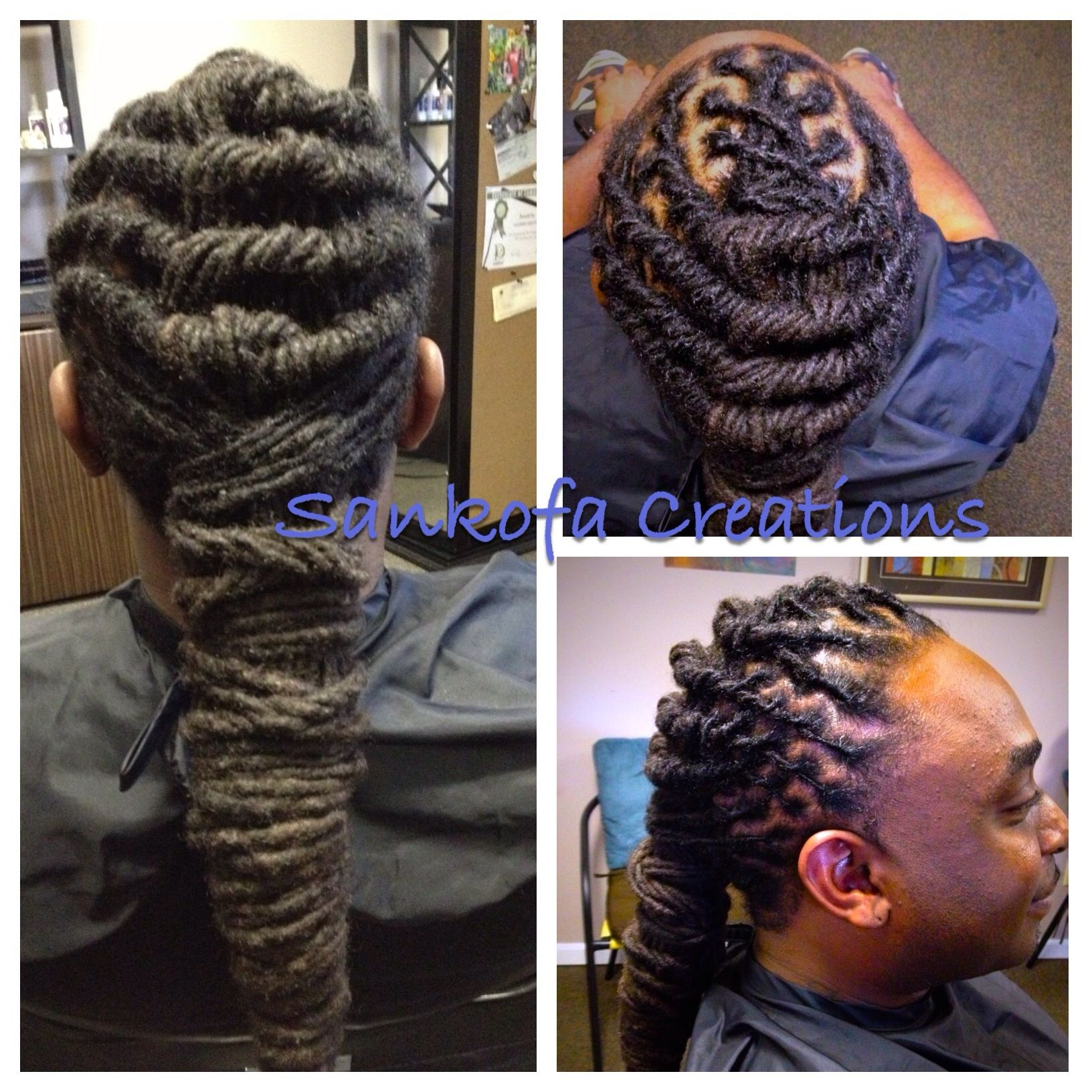 Long Loc Styling And Grooming For Men Www Sankofacreations Com