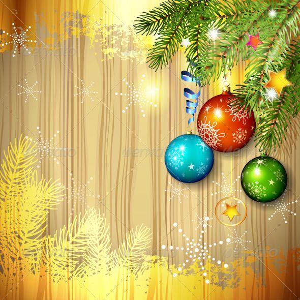 Christmas Ball and Pine Tree