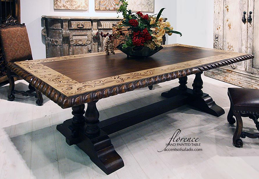hand painted dining tables online accents of salado with on hand painted dining room tables id=94009