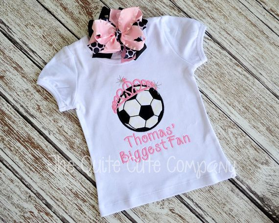 1d79b073657c1 Applique Girly Soccer Sister Shirt with by TheQuiteCuteCompany ...