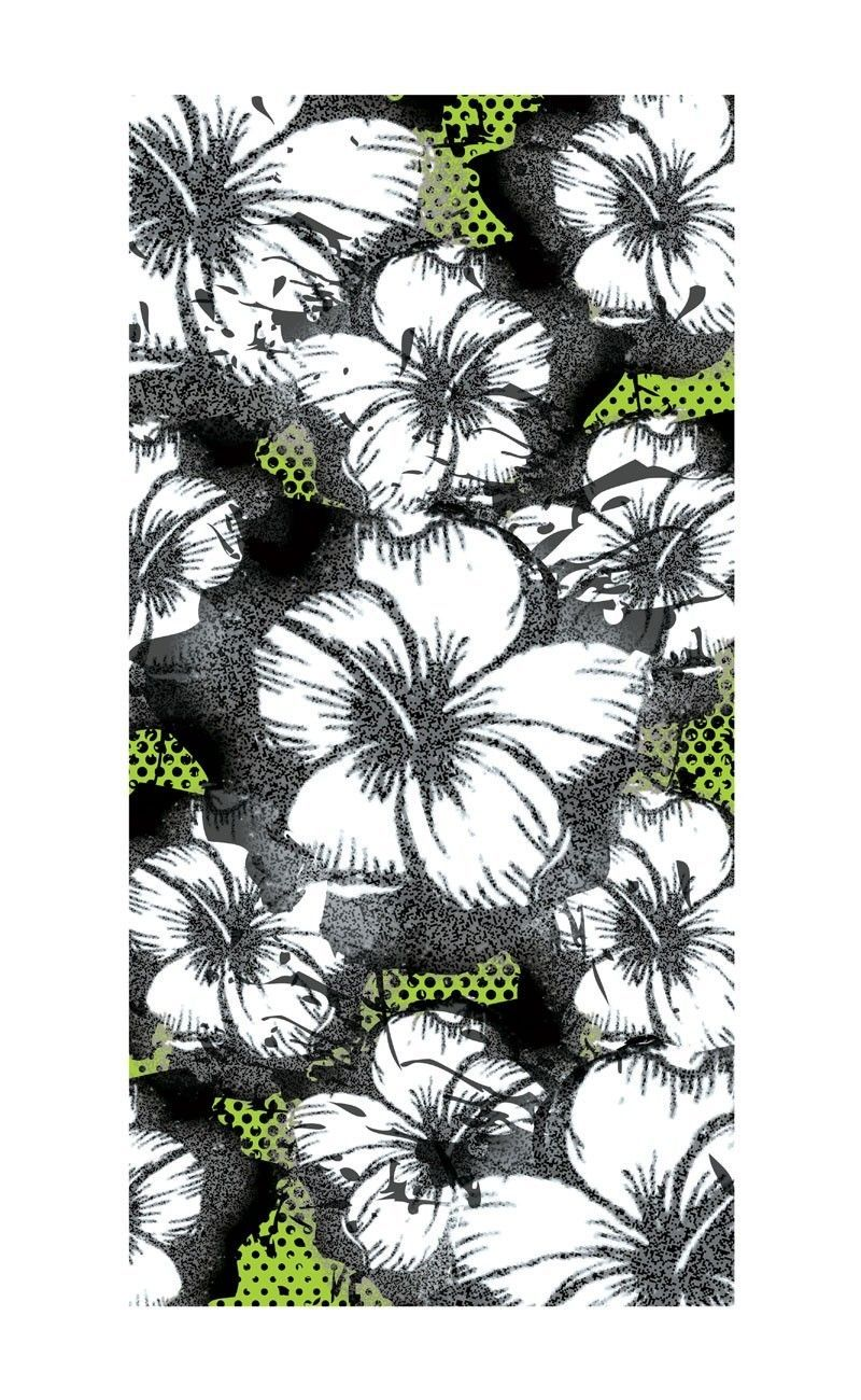 Foil Hibiscus Beach Towel