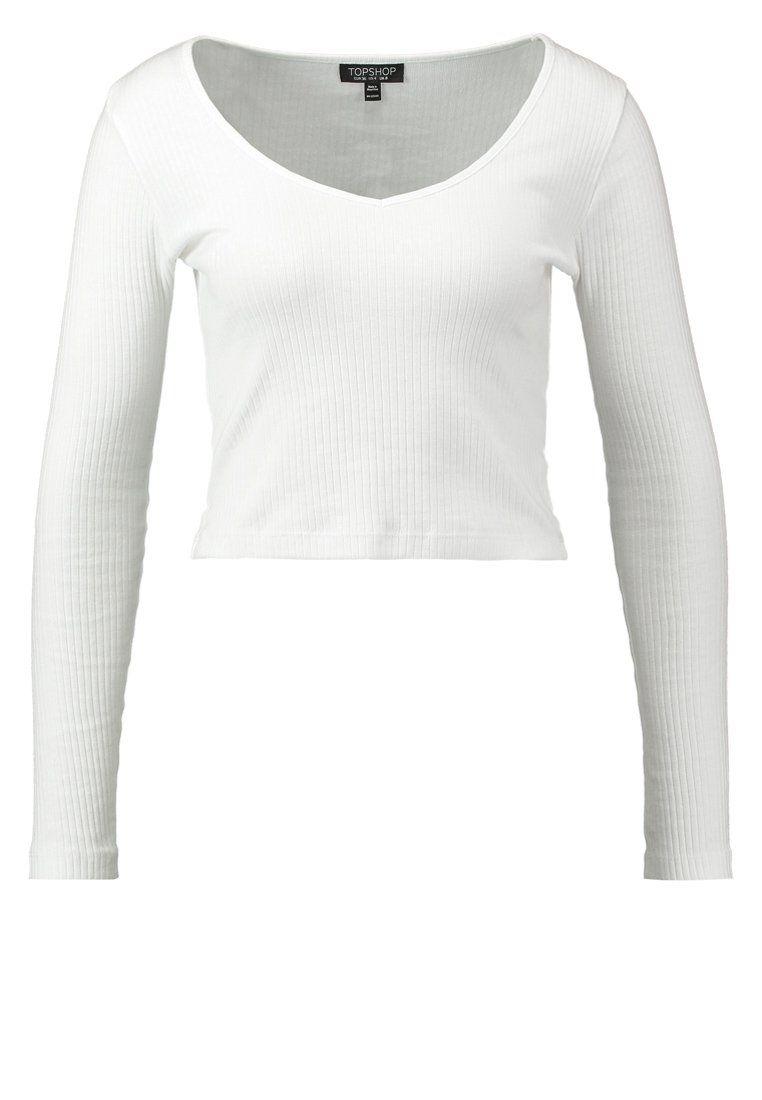 Topshop Langarmshirt - white - Zalando.de