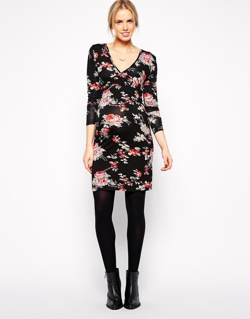 Mama.licious | Mamalicious Klara Long Sleeved Jersey Dress at ASOS, 2