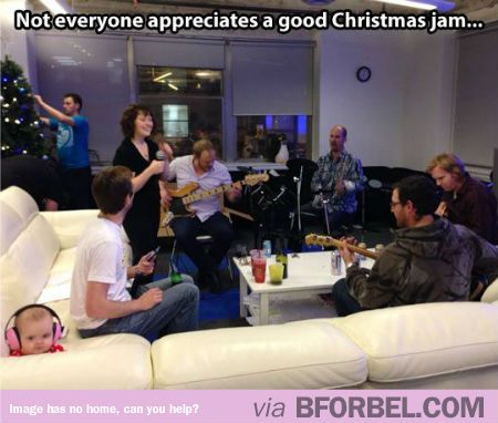 Not Everyone Likes A Good Christmas Jam Session…