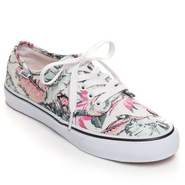7f6a7bdfcda Vans Tropical Whitegreen Camden Stripe Flat Sneakers - Women s ( 50) ❤  liked on Polyvore featuring shoes