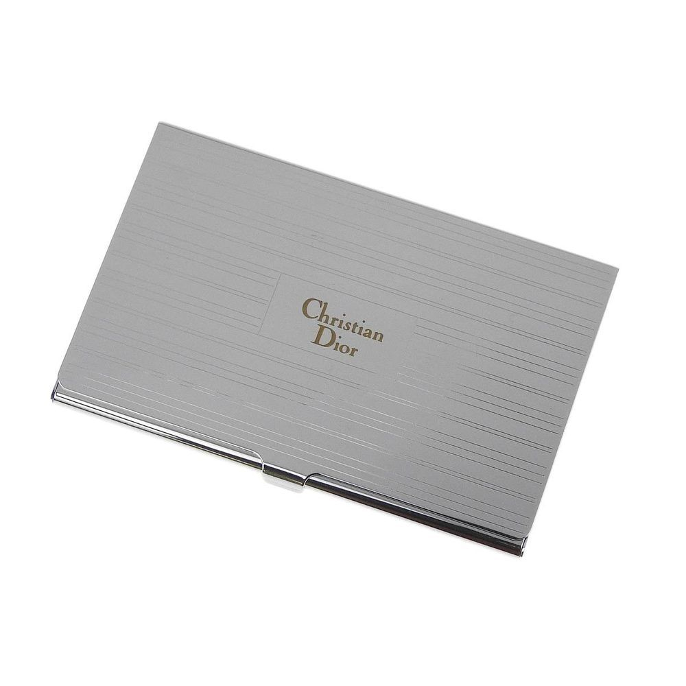 Christian Dior Silver Business Card Holder Case