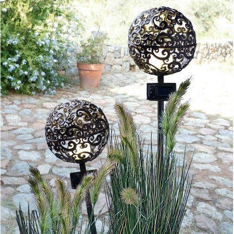 Solarleuchten garten antik gartenlampe kugel for Garten dekokugel