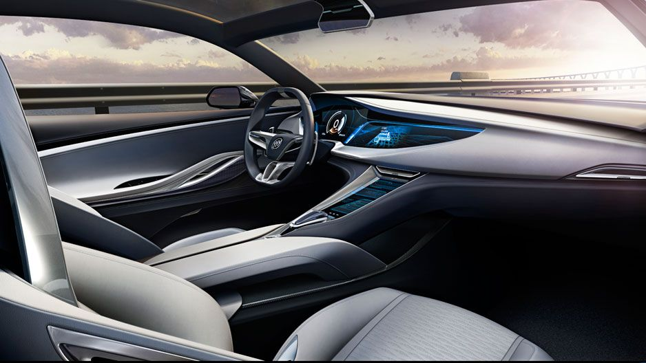 Luxurious Leather And Aluminum Trim Surround The Driver And Passengers In  The Buick Avista Concept Vehicle