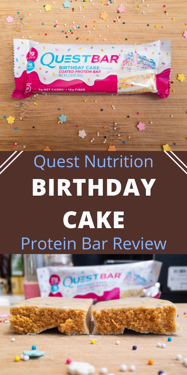 Quest Nutrition Birthday Cake Protein Bar Review This Gluten Free Is As