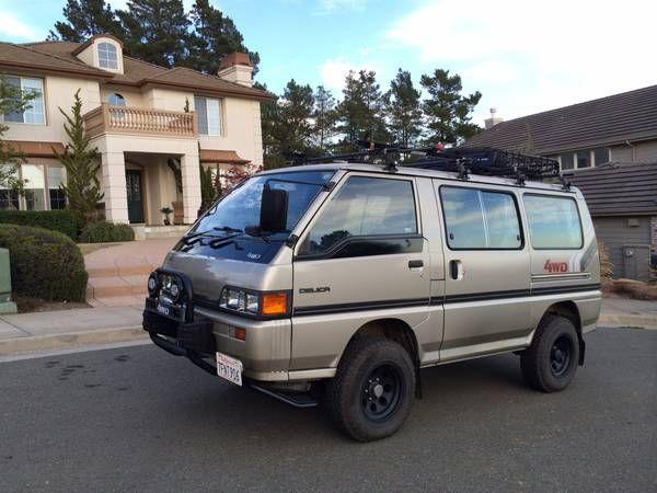 1986 mitsubishi Delica 4x4 5spd turbo diesel van. Toyota