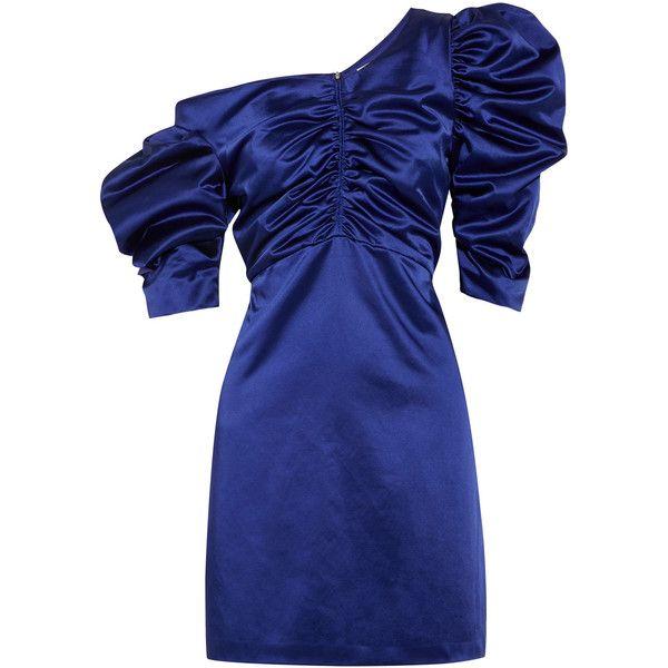 Cotton-blend satin dress Isa Arfen yexeB