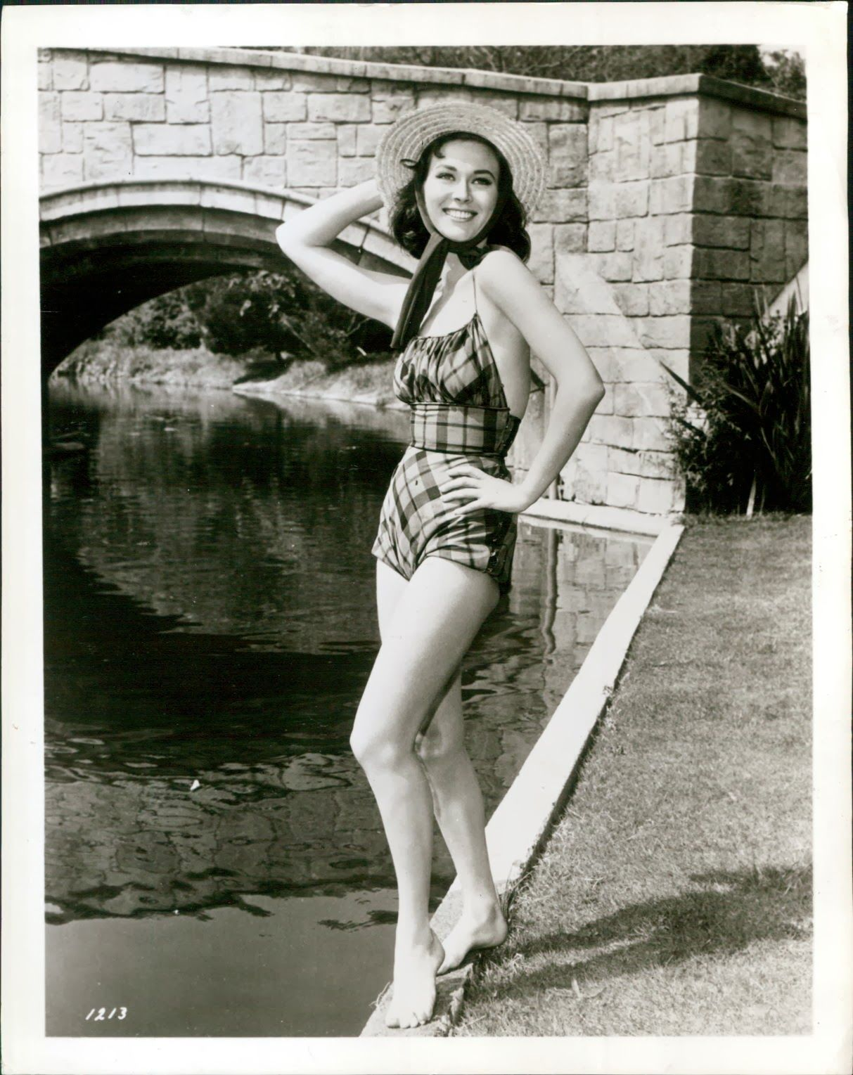 74ce54455ddce Glamoursplash  Gia Scala in a Claire McCardell Swimsuit 1957 ...
