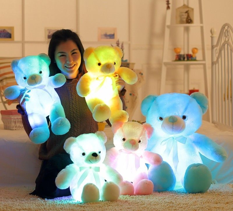 Toys & Hobbies Cheap Price Creative Light Up Led Bear Soft Stuffed Animals Plush Toy Colorful Luminous Glowing Bear Dolls Christmas Gift For Kids