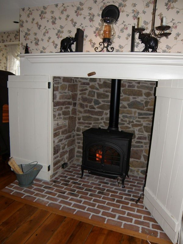 Wood Stove Alcove Ideas For The House Stove Hearth Wood