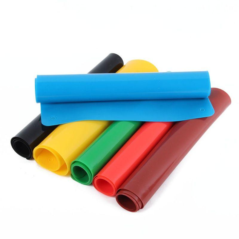 실리콘 베이킹 매트 비 스틱 팬 라이너 플레이스 테이블 보호기 6 Color
