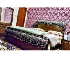 Fancy Bed Set Home Used New Condition For Sale Bedroom Sofa Fancy Bed Bedding And Curtain Sets