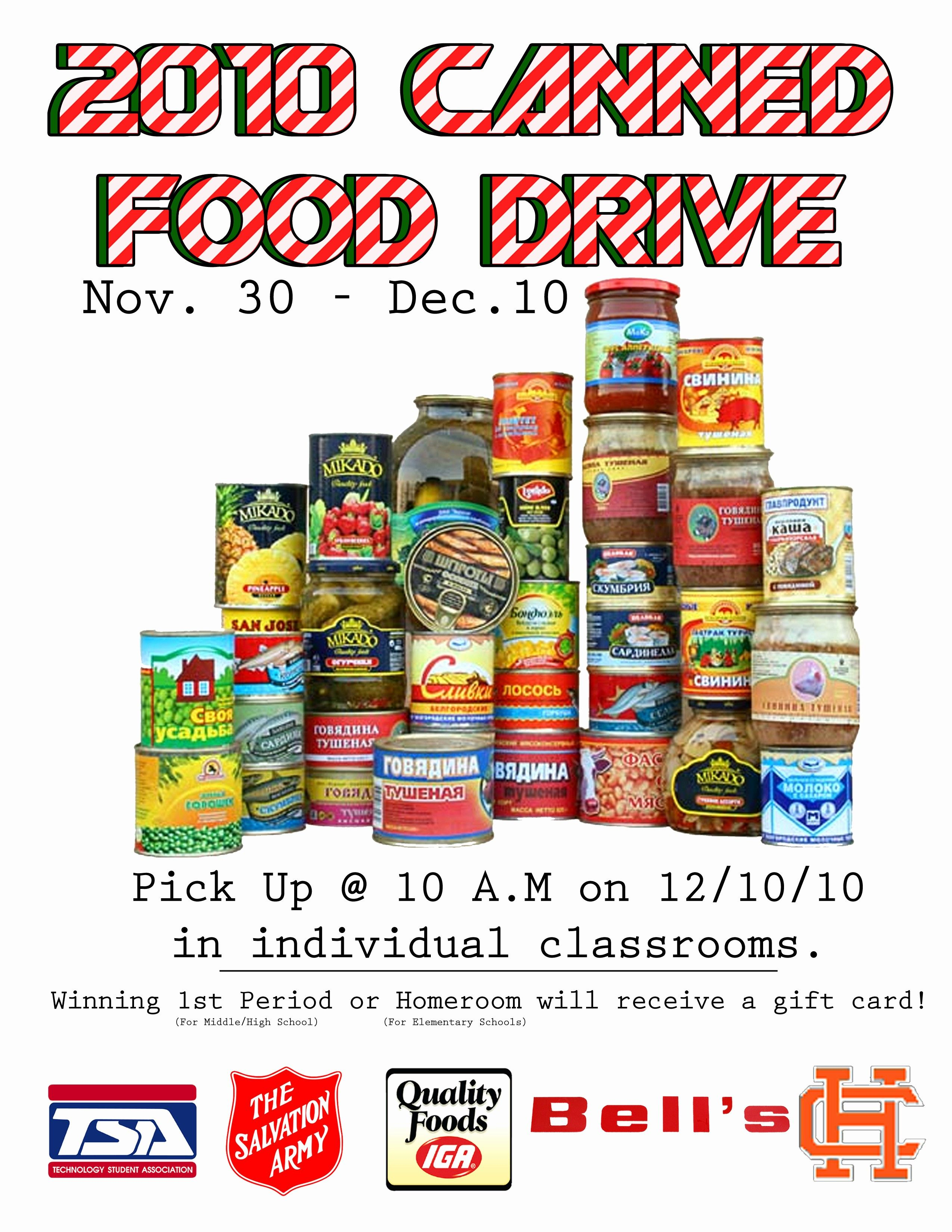 Elegant Can Food Drive Flyer Template ...
