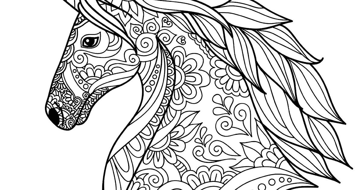 Detailed Unicorn Coloring Pages For Kids In 2020 Horse Coloring