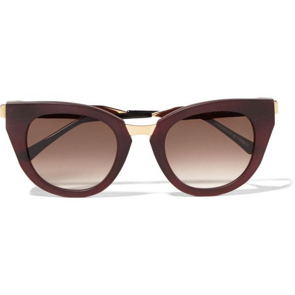 f0eee12174 Thierry Lasry Snobby cat-eye matte-acetate and metal sunglasses ( 485) ❤  liked on Polyvore featuring accessories