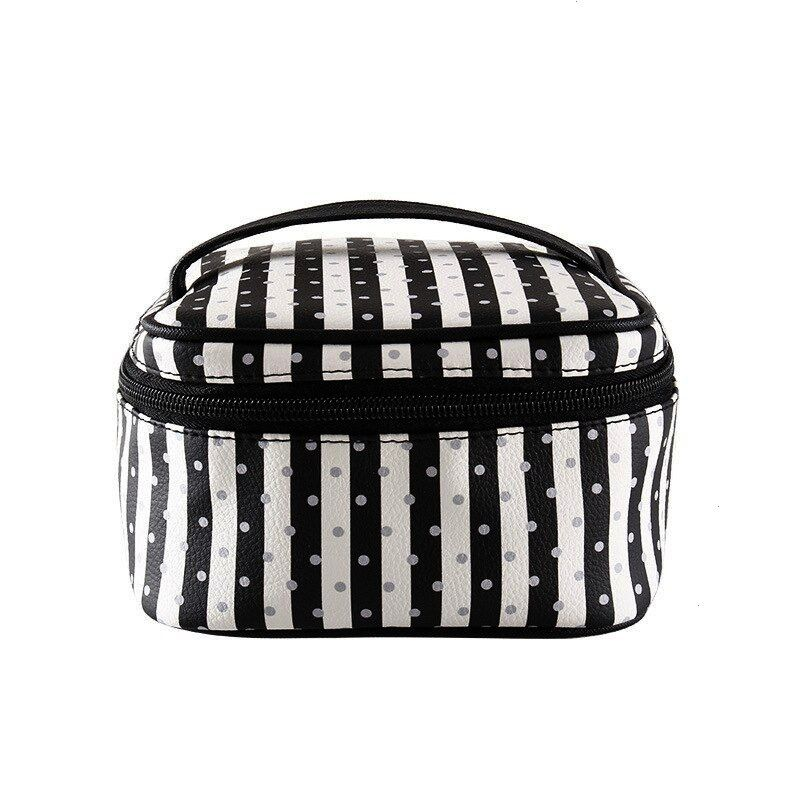 Litchi PVC Stripes Mini Makeup Square Bag Makeup Tool Box Bag Amazon Manufacturers Supp JuJuBe Starlet Travel Diaper Bag  Purple Miztique The Jamie Convertible Backpack W...