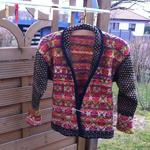 Ravelry: Exklusiv Folklorejacke in fair isle technik pattern by ...