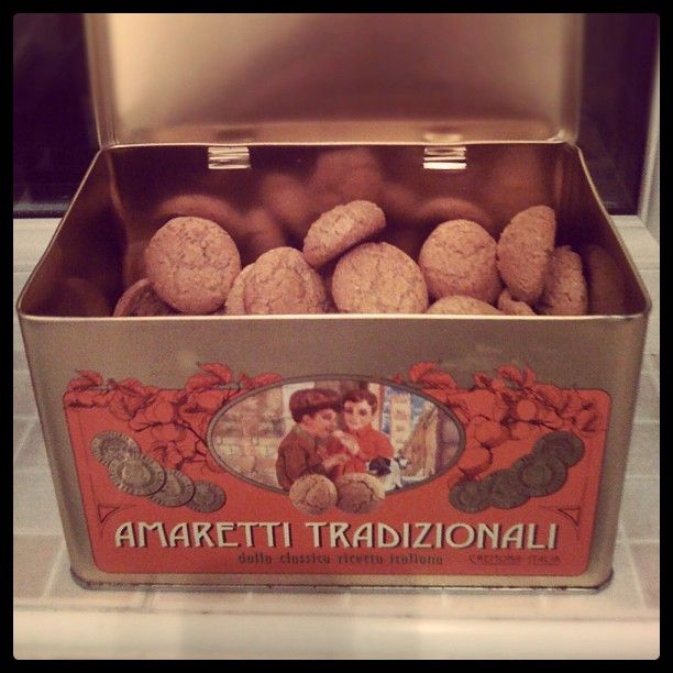 Day #48 - restocking my supply of sweet and crunchy almond biscuits in my shiny amaretti tin