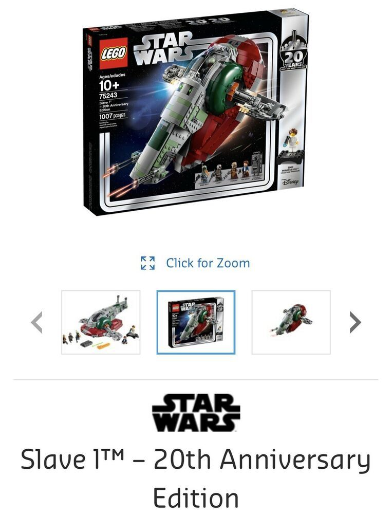 Lego Star Wars Slave I 20th Anniversary Edition 75243 IN STOCK