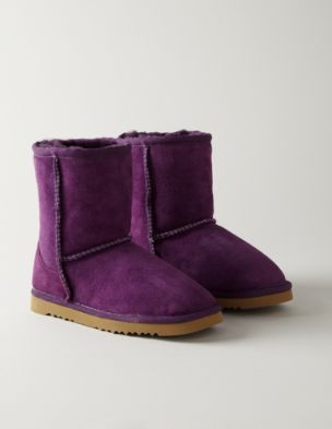 LOVE these purple boots