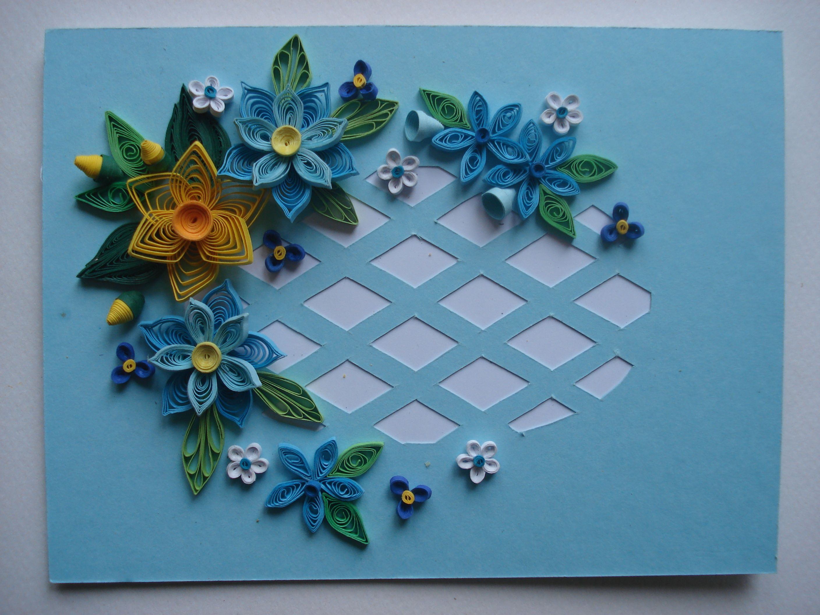 Paper Quilling Birthday Greeting Card by TipTopArtShop
