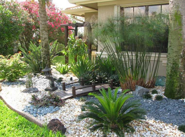 Lovely Florida Backyard Landscaping With Garden Design Custom Landscape