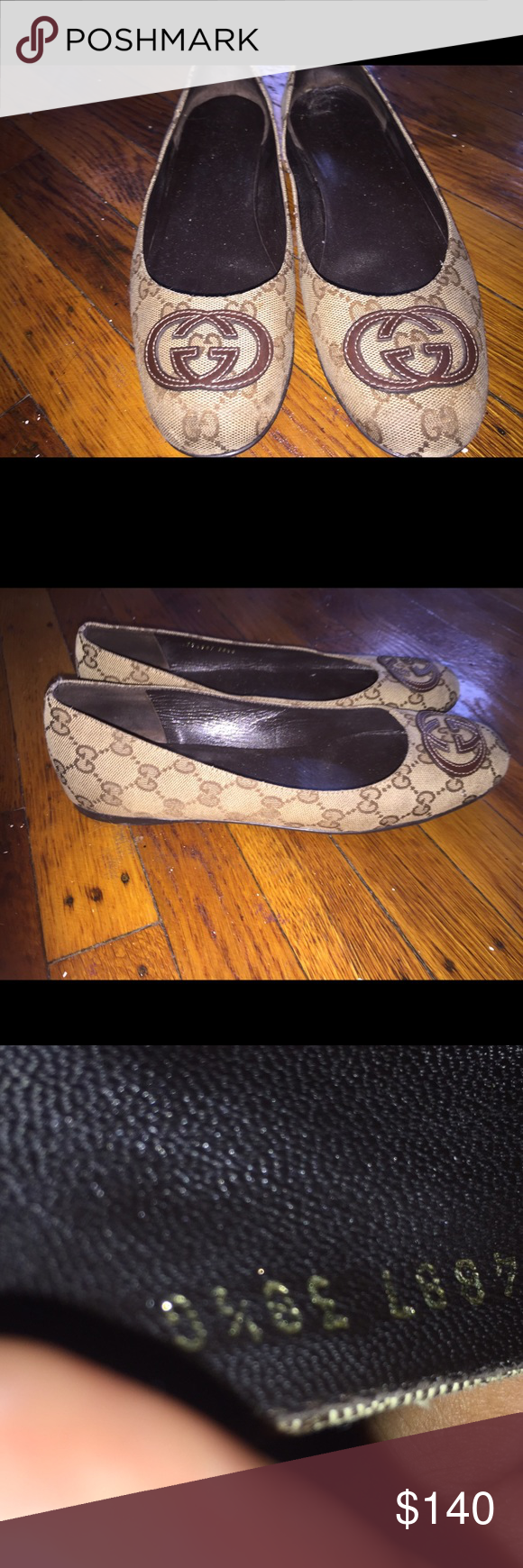 Gucci Double G Logo Flats Beautiful Gucci Flats Like New In Size 381/2 .. No Box ... Gucci Shoes Flats & Loafers