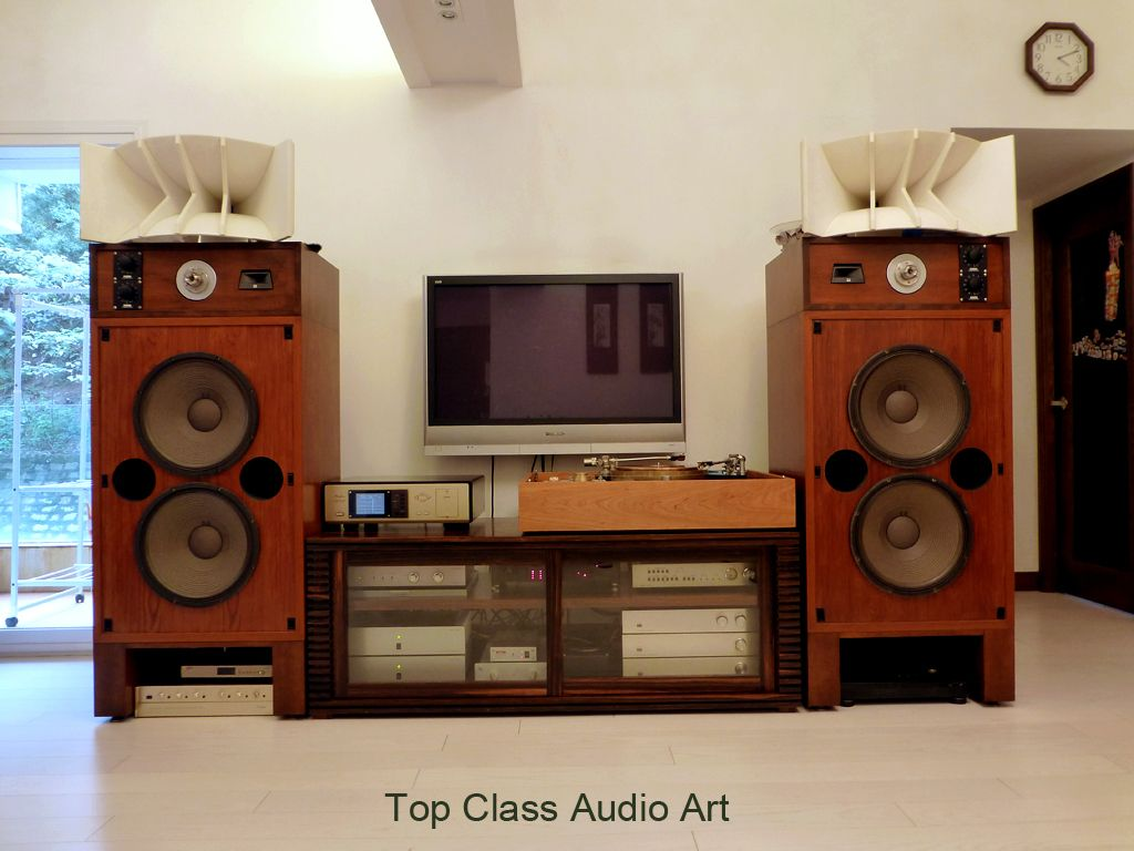 Speaker System Super Tweeter Jbl Ut505 High Ale Acoustic 1710 Mid Jbl 375 W Tailor Made Western Type Corian H Audiophile Listening Room Hifi Hifi Audio